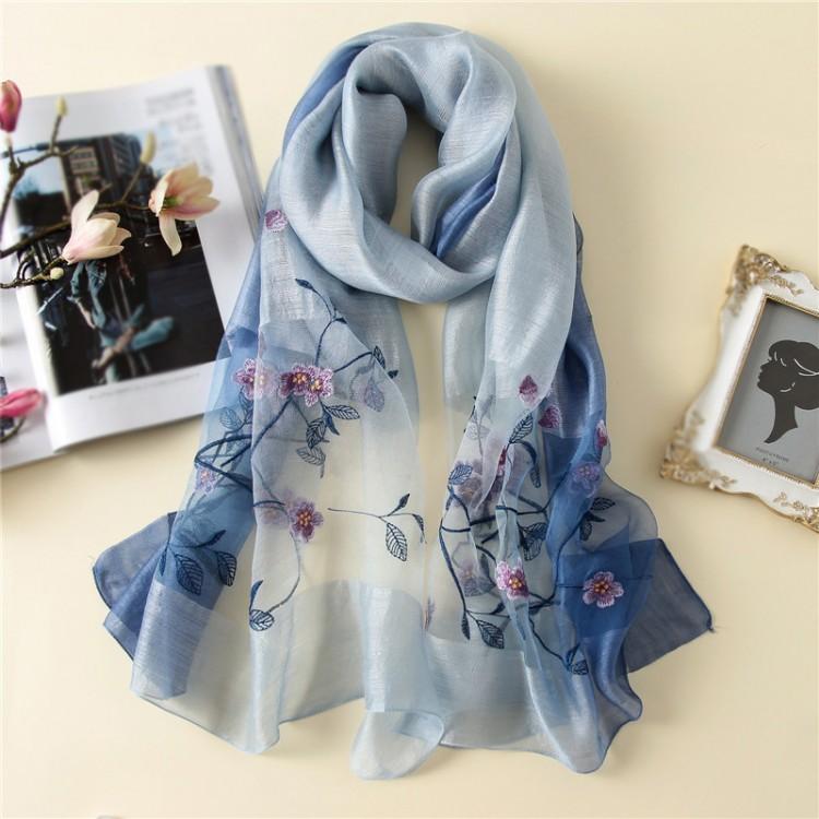 Жіночий шарф натуральний елегантний wool&silk