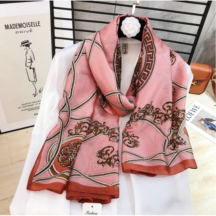 Жіночий шарф шовковий красивий рожевий