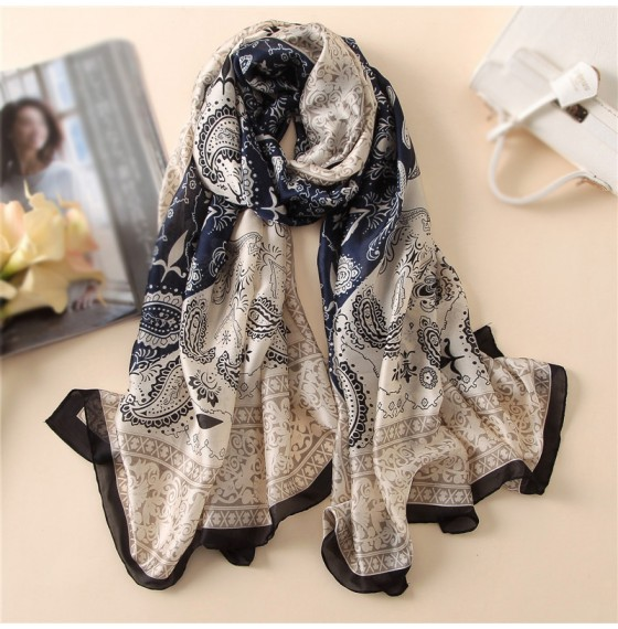Шовковий шарф жіночий шийний марокканський