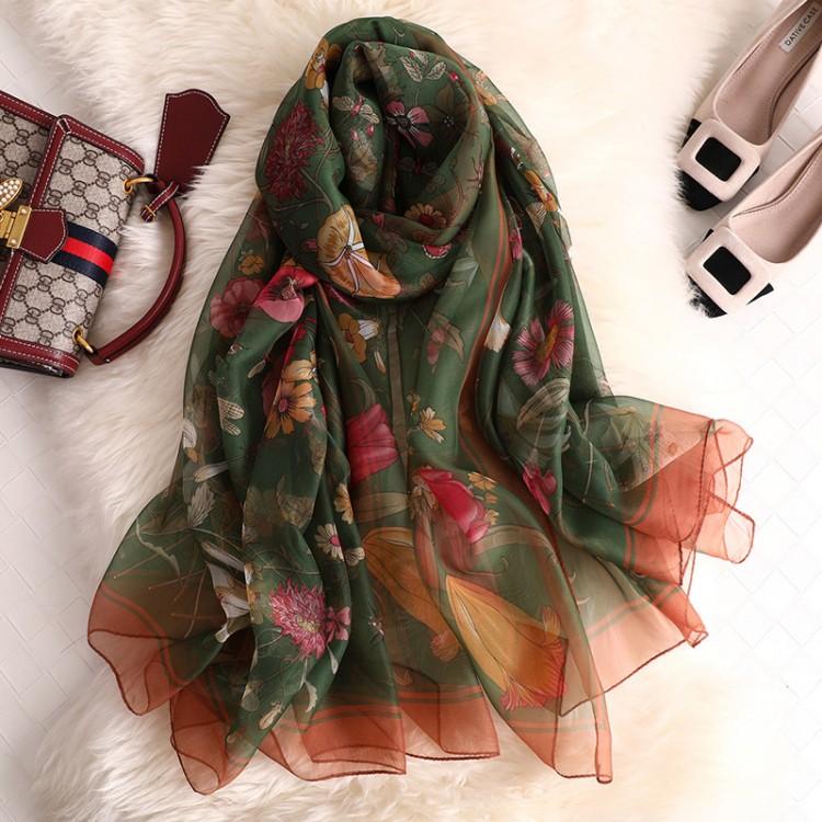 Жіночий шарф шифоновий легкий в квіточки