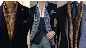 Кашемировый шарф - изящная находка мужского делового стиля