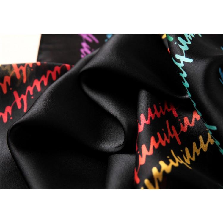 Шарф женский шелк черный