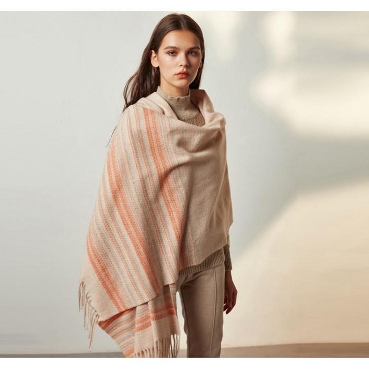 Вовняний шарф жіночий теплий creame