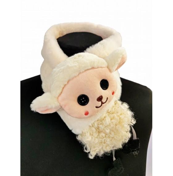 Хутряний шарф овечка біла