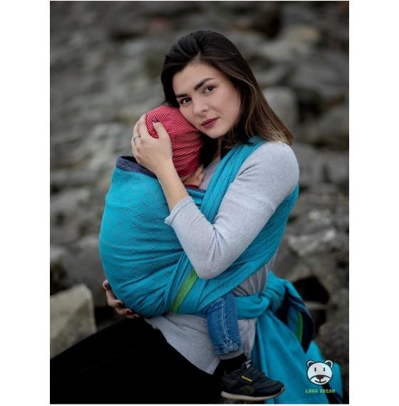 Слинг-шарф голубой
