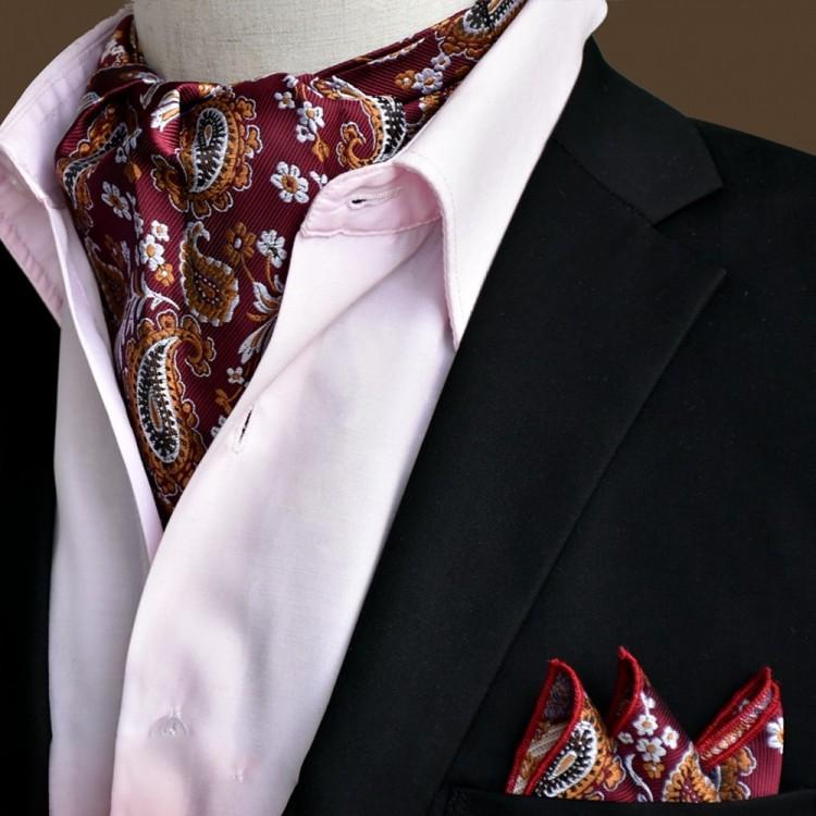 Шейный платок с огурцами пейсли в наборе
