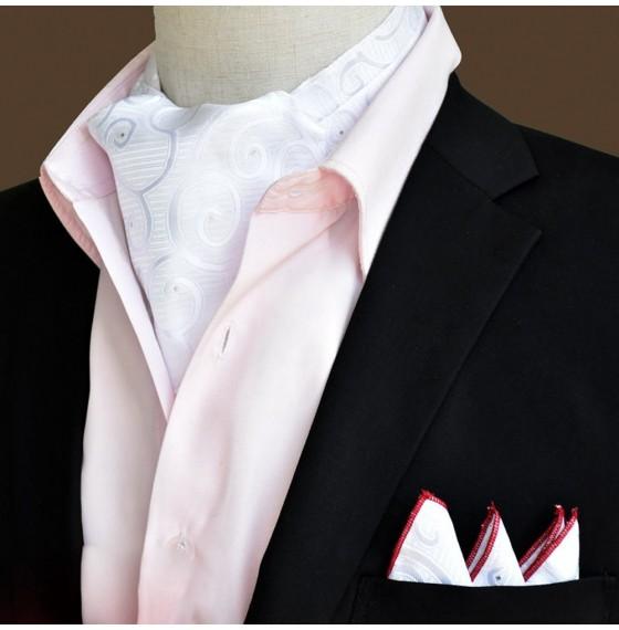 Шейный платок белый с узором в наборе