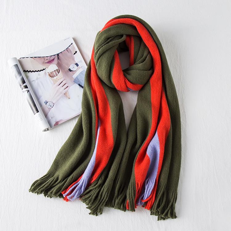 Вязаный шарф полоска grey