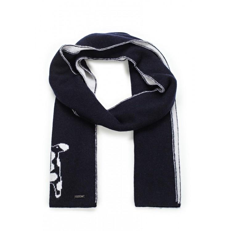 Черный двойной шарф жираф