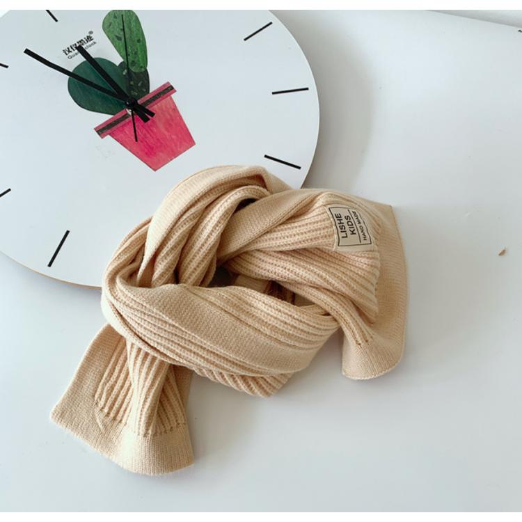 Вязаный шарф детский бежевый