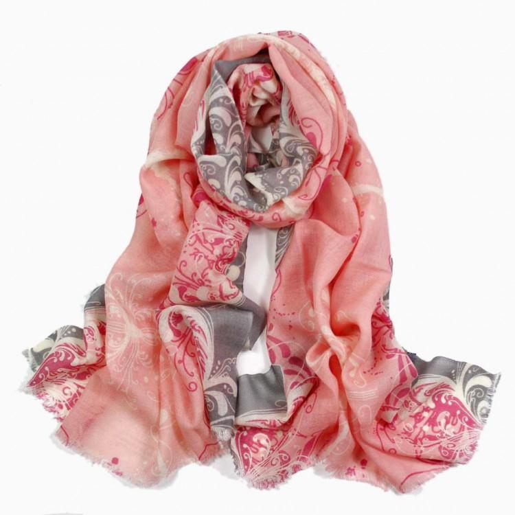 Вовняний шарф красивий тонкий романтичний