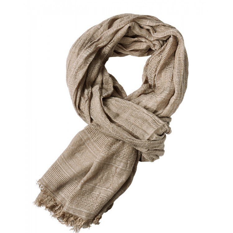 Чоловічий шарф жатий бежевый