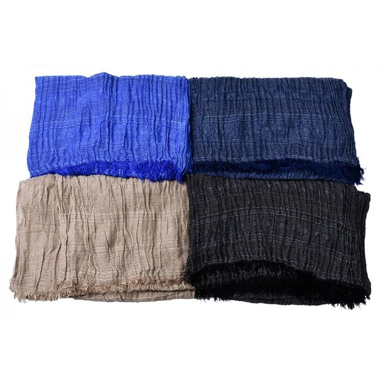 Мужской шарф жатый бежевый