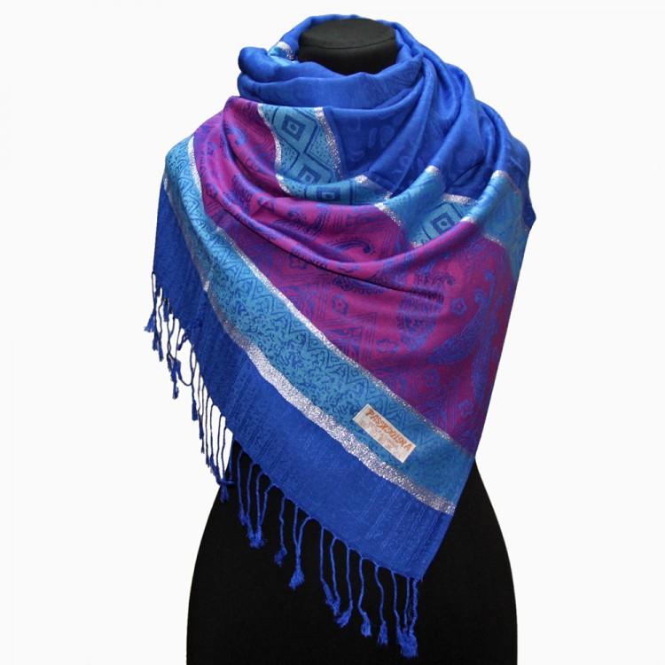 Жіночий шарф-палантин індійський східний blue