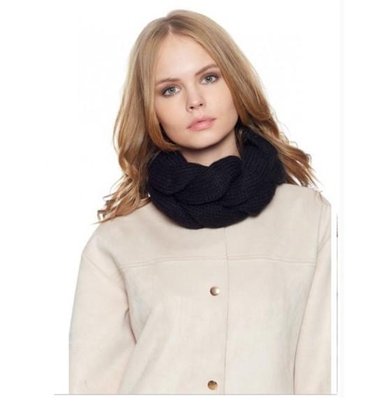 Круглый шарф черный