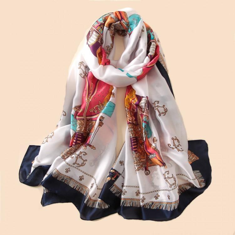 Шовковий шарф ретро стиль