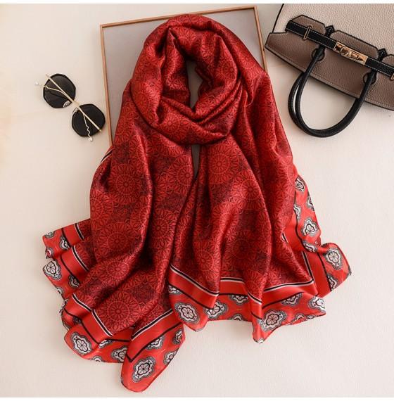 Шелковый шарф женский восточный шарм