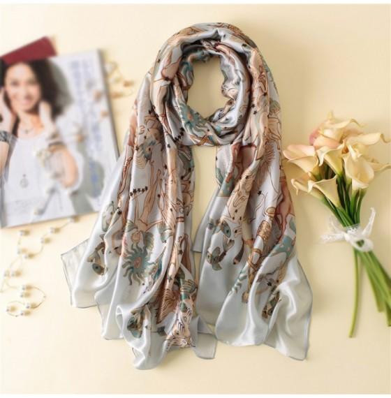 Шовковий шарф жіночий знаки зодіаку