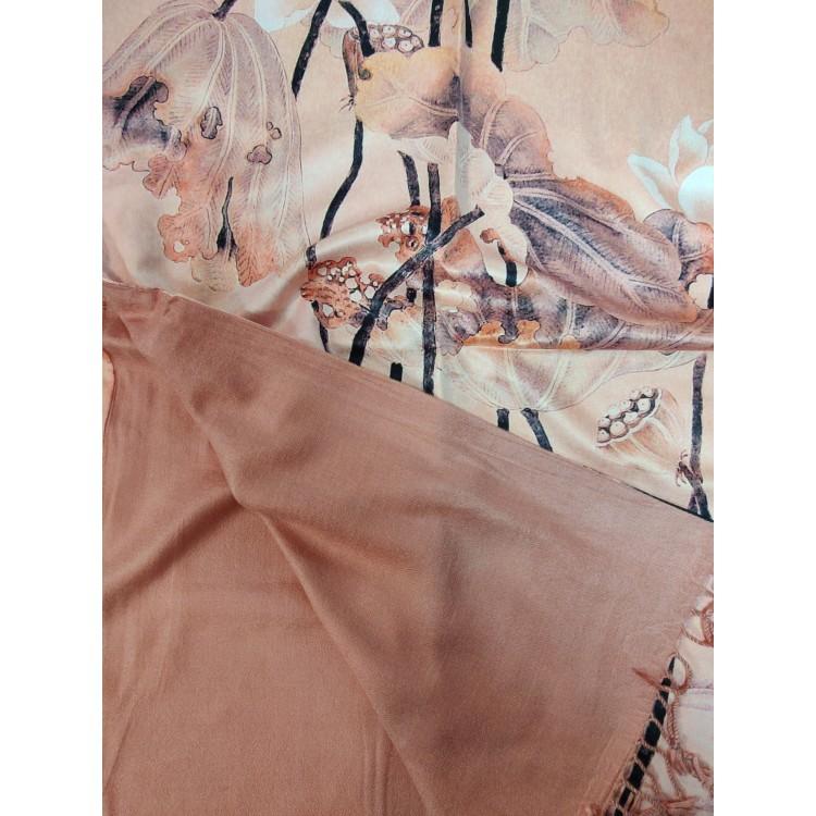 Палантин шелковый винтажный