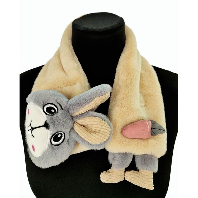Меховый шарф зайчик
