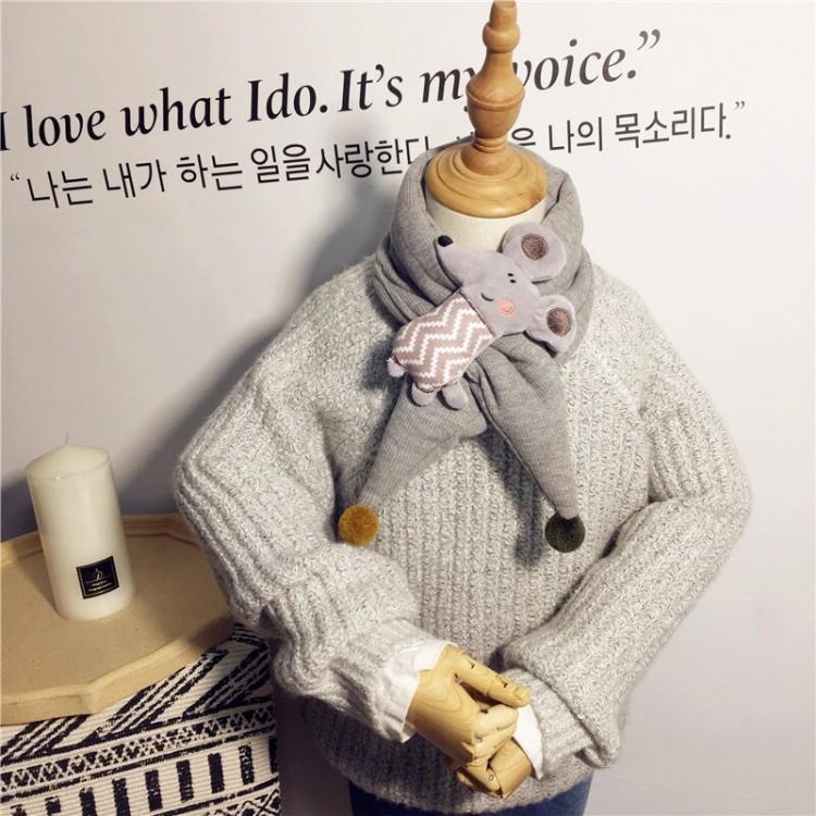 Детский шарф мышонок
