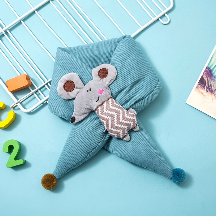 Дитячий шарф мишеня блакитний