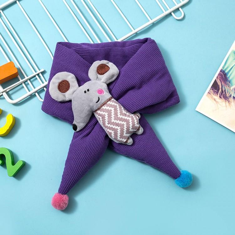 Дитячий шарф мишеня бузковий