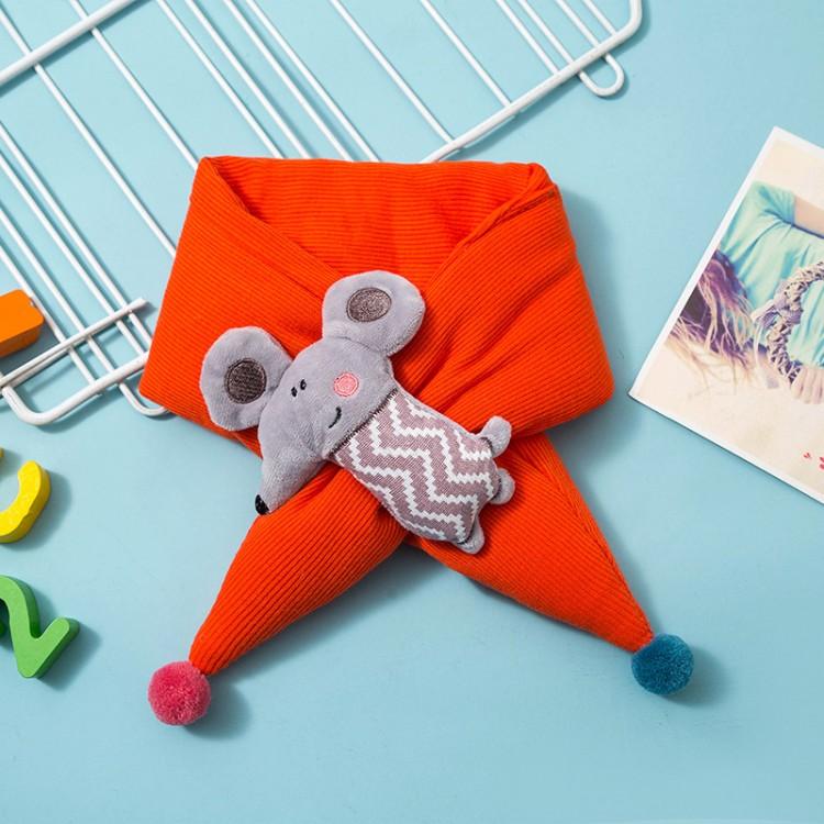 Дитячий шарф помаранчевий