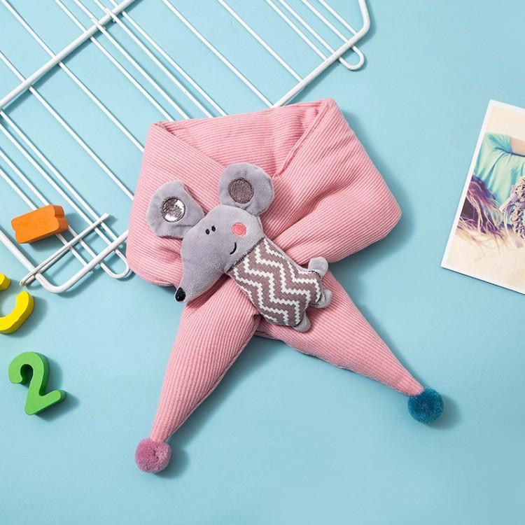 Детский шарф с мышонком