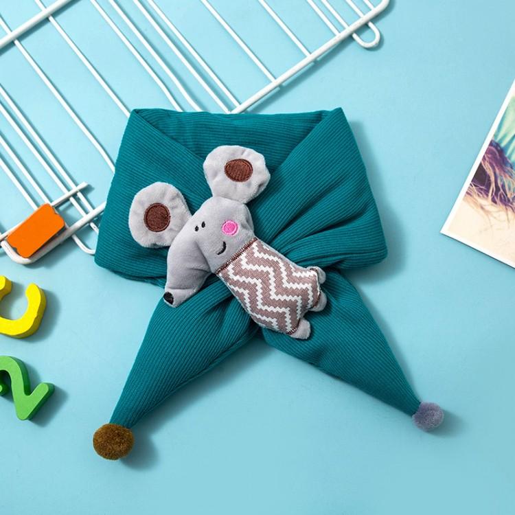 Дитячий шарф мишеня бірюзовий