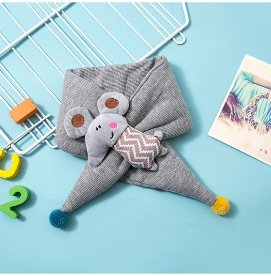 Дитячий шарф мишеня сірий