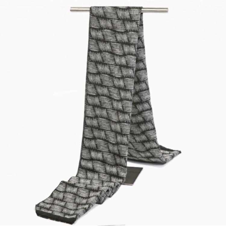 Мужской шарф деловой серый