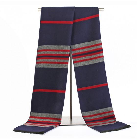 Чоловічий шарф синій в смужку