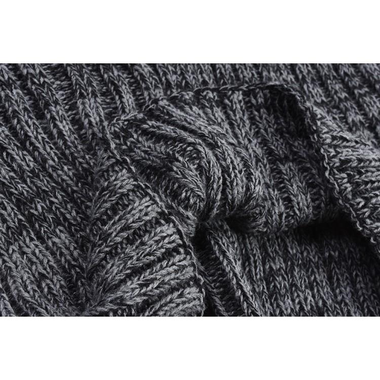 Хомут вязаный серый