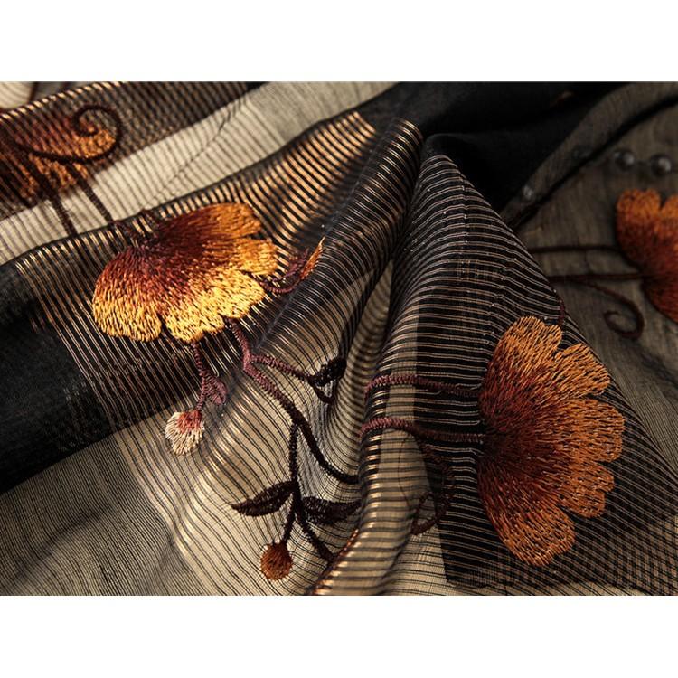 Шарф черный wool&silk