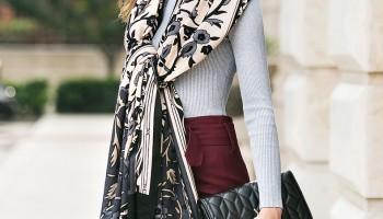 Шарфы и платки -  стильные must have аксессуары на все случаи жизни