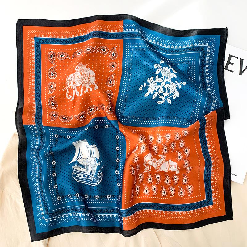 Індійська шовкова хустинка на шию