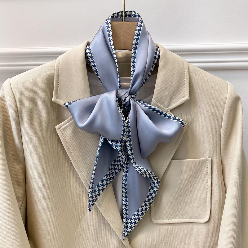 Красивий вузький шарф на шию